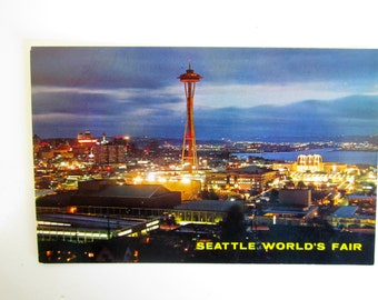 1962 Space Needle Seattle Worlds Fair Postcards 2