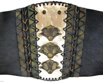 "Genuine Xena Prop Leather ""Pontius"" Cincher Belt - ""King of Assassins"" Episode  - TV Costume"