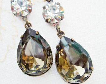 Black Tie Jewelry - Black Diamond - Crystal Drop Earrings - Formal -  ANGELINA TUXEDO