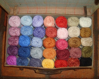 Bamboo yarn - hand dyed -  10 skeins MIX & match