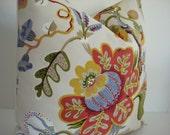 P Kaufmann -Wonderland Pearl - Decorative Pillow Cover--Red-Mustard Yellow-Green-Blue Tan and Cream Throw/Lumbar Pillow
