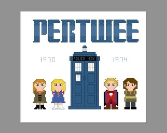 Doctor Who 3rd Doctor Pixel People Character Cross Stitch PDF PATTERN ONLY