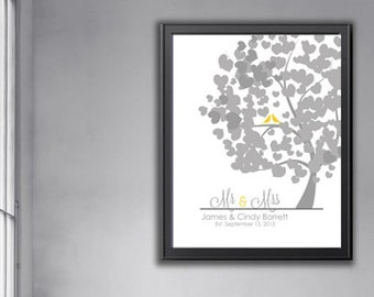 Engagement gift, Mr & Mrs Anniversary Gift, love birds, birds in love, gift for him, gift for her, wedding gift, Personalized Gift For him