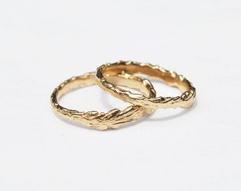 Long Island Solid Gold Twig Ring
