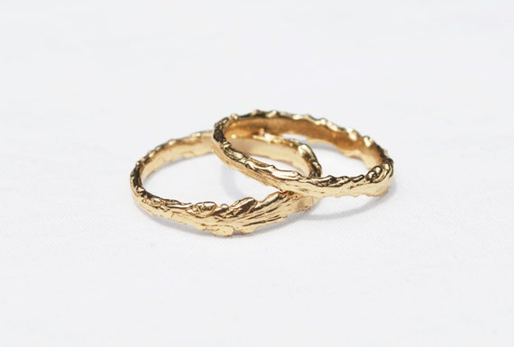 Long Island Solid Gold Twig Ring-14k GOLD-yellow, rose or white