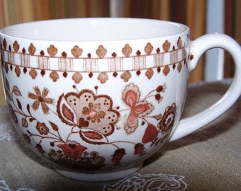 Vintage Made in England Bone China Cup Asian Oriental Influenced Design - New Price