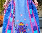 HOLD for paponda - Ganesha Love Handmade Applique Patchwork Festival Skirt