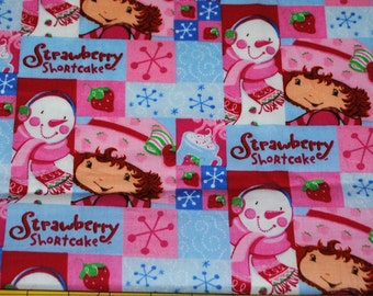Fat Quarter Strawberry Shortcake and Snowman Patchwork Fabric