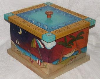 "WEDDING KEEPSAKE BOX - Handmade box - 9""w x 10""d x 7"" h - Grooms Gift - wood box - Gratitude box - God Box - keepsake box"