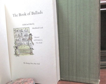 Heritage Book of Ballads 1967  Edited MacEdward Leach Heritage Press Hardcover Boxed. Illustrated. England. Scotland. America.  History.