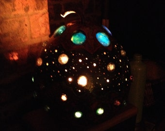 Blue Moons Gourd Lamp