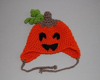 Jack O Lantern crochet hat