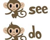 Kids Monkey See Monkey Do Tee Shirt