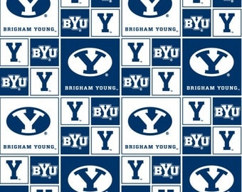 WINTER SALE - Quilt Backing Cut - 5 yards - Brigham Young University - BYU Cougars
