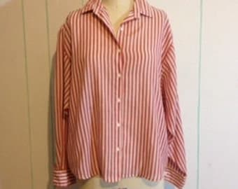 Red And White StripedShirt