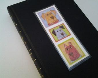 Bookmark, 3 dogs, laminated, original designs