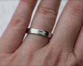 smooth palladium wedding band . river rock wedding ring . unisex mens womens band ring . 950 palladium rustic wedding ring