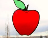 Stained Glass Red Apple