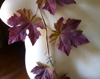 Vintage Leaves Maple or Grape in Fall Colors Ombre for Fall Weddings, Boutonnieres, Thanksgiving