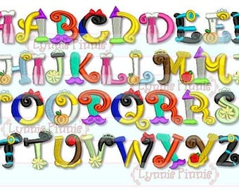 Pretty Princess Alphabet Embroidery Font  3 sizes Machine Embroidery Design  INSTANT Download