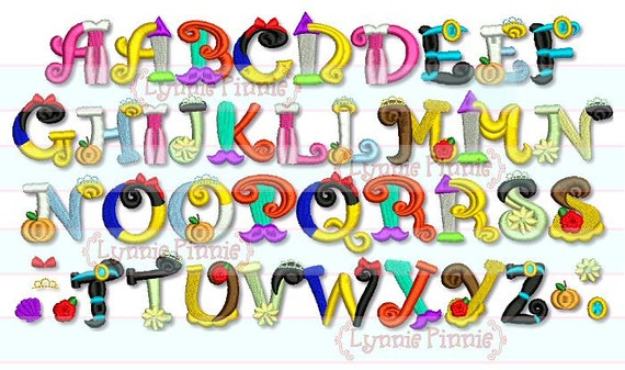 Embroidery Font 3 Sizes Machine Design INSTANT Download