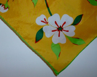 Lime and Orange Yellow Spring Square Scarf