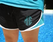 Custom Embroidered Monogram Running Soffe Style Shorts