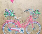 Honey Bicycle 24x24 Fine Art Paper Print