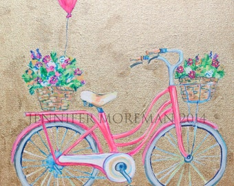 Honey Bicycle 24x24 Fine Art Paper Print