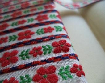 1 Yard Vintage Jacquard Woven Ribbon Trim