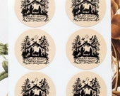 Christmas Stickers Nativity Envelope Seals Vintage Style Party Favor Treat Bag Stickers CS001
