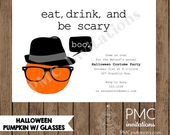 Custom Printed Halloween Party Invitations  - 1.00 each with envelope