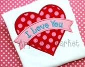 Machine Embroidery Design Applique Heart Banner INSTANT DOWNLOAD