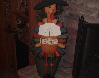 Pilgrim Turkey Eat Ham Porch Sitter