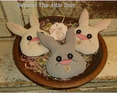 Primitive BuckTooth Bunny Bowl Fillers Spring Rabbit Tucks Easter Ornies