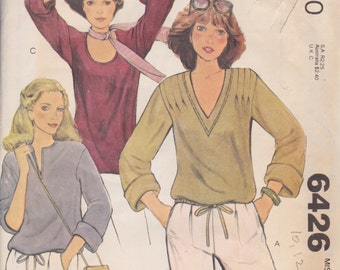 MCall's 6426 Misses' Tops Size Small 10, 12 Vintage UNCUT Pattern  Stretch Knits ONLY