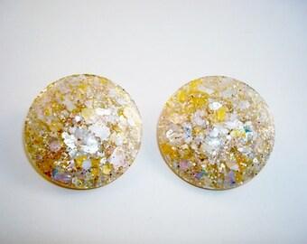 Sparkling Glitter Confetti Pastel Lucite Earrings