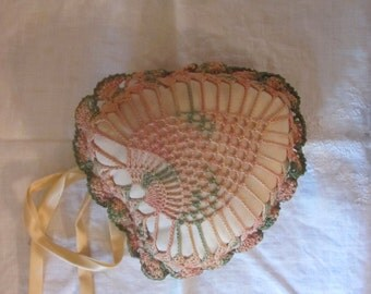 Victorian Heart Shaped Crocheted Sachet