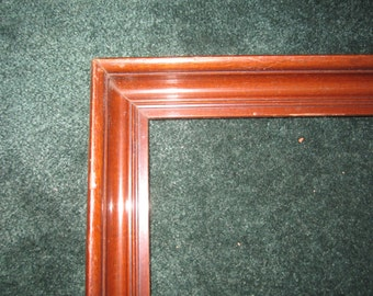 Antique Victorian Beautiful Walnut Picture Frame for 16 5/8x13 1/4 Artwork or Image