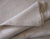 Wool Fabric Tan Houndstooth, One Quarter Yard of Felted Wool Flannel