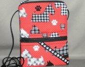 Wallet on a String - Passport Purse - Sling Bag - Scottie Dog - Terrier