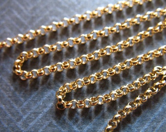 10 feet, 10% Less Bulk Gold Filled Chain, 1.5 mm ROLO Chain, Wholesale Jewelry Supplies Findings ssgf sgf7 solo