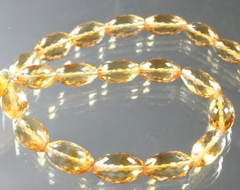 1/2 Strand TOP QUALITY AAA Citrine Fancy Cut Oval Nuggets