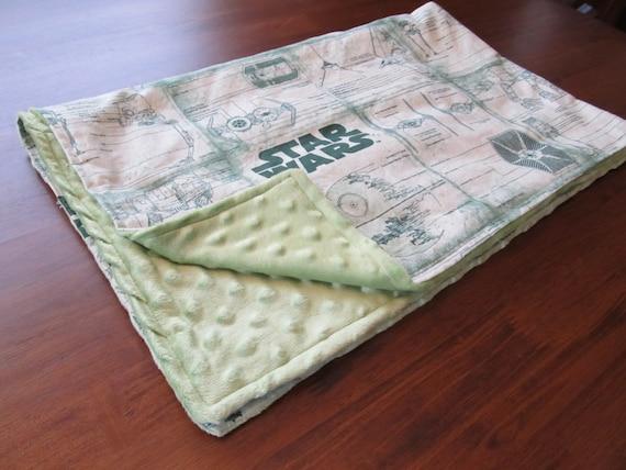 Green Star Wars Baby Blanket