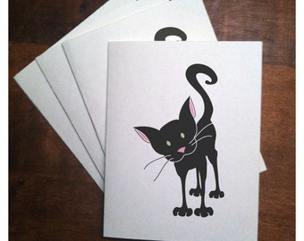 Curious Kitty Note Cards (set of 10)