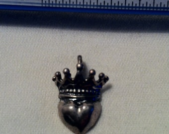 Queen of Hearts Charm Sterling Silver