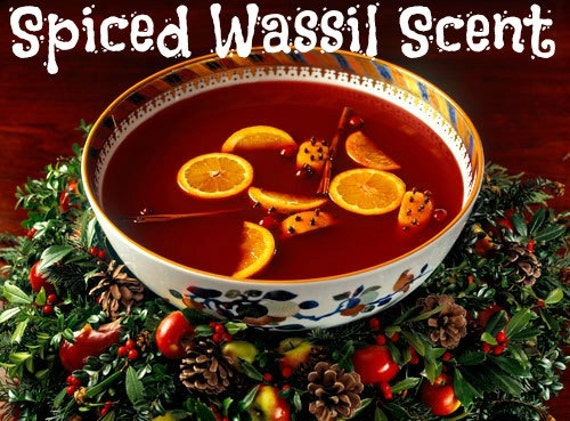 SPICED WASSAIL Scented Soy Wax Melts - Soy Wax Tarts - Wickless Soy Candle - Highly Scented - Hand Poured In USA