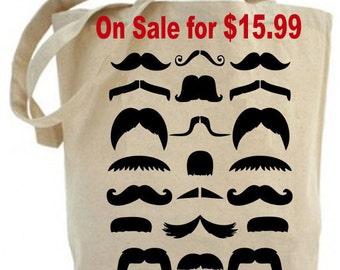 Mustache - Moustache Tote Bag - Canvas tote bag