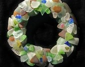 Sea Glass Wreath with Authentic Sea Glass