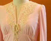CLEARANCE Light Pink Vintage Maxi Dress Seventies